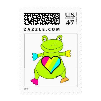 Heart Frog Postage