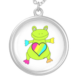 Heart Frog Silver Plated Necklace