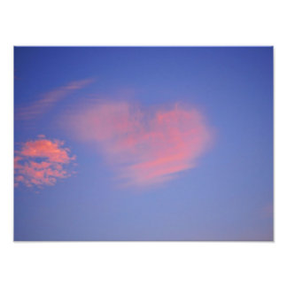 Heart from clouds - photo printing
