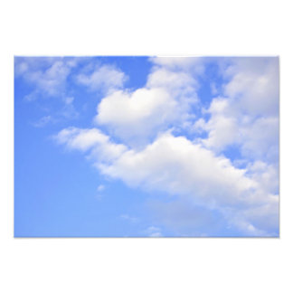 Heart from clouds Photo Prints