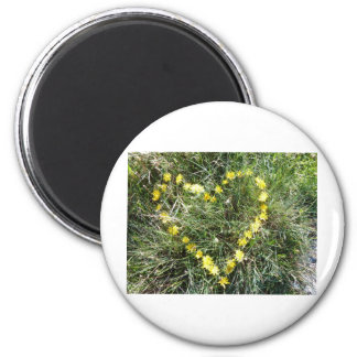 Heart from flowers 2 inch round magnet