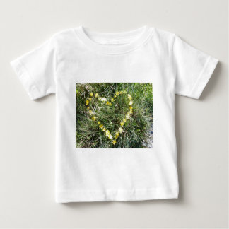 Heart from flowers t-shirts