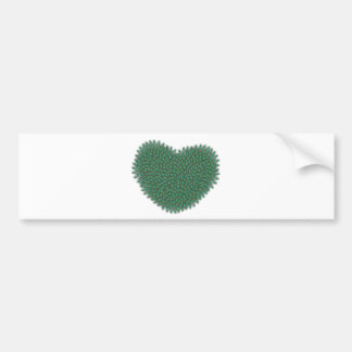 Heart from peacock feathers bumper sticker
