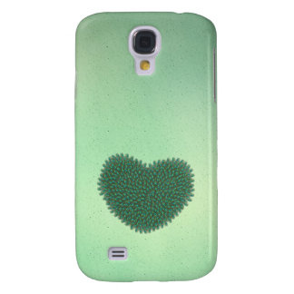 Heart from peacock feathers samsung s4 case