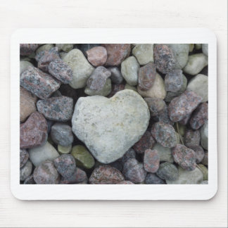 Heart from stone mouse pad