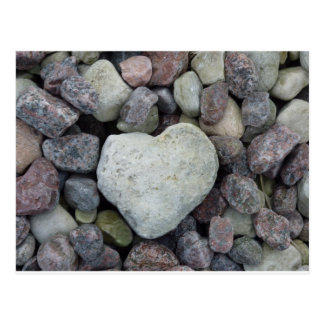 Heart from stone postcard