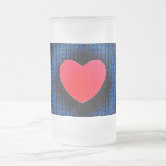 Heart Frosted Glass Mug
