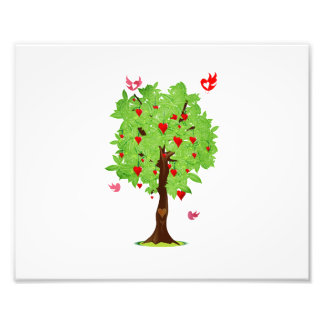 heart fruit tree with heart birds.png photo