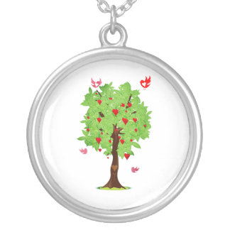 heart fruit tree with heart birds.png silver plated necklace