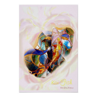 Heart Full Koi Art Modern Wall Deco Poster