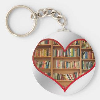 Heart Full of Books Keychain