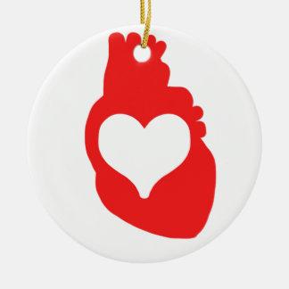 Heart full of Love Ceramic Ornament