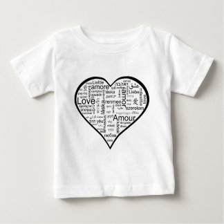 Heart full of Love in Different Languages Baby T-Shirt