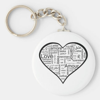 Heart full of Love in Different Languages Keychain