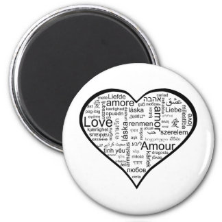 Heart full of Love in Different Languages Magnet