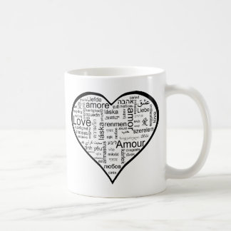 Heart full of Love in Different Languages Mugs