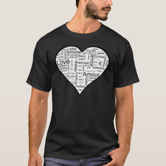 Heart full of Love in Different Languages T-Shirt