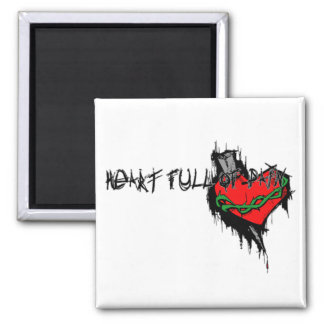 Heart Full Of Pain 2 Inch Square Magnet