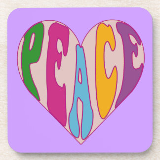 heart full of peace drink coaster