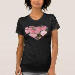 Heart Full of Roses Tshirt  for women
