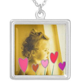 Heart Garden Silver Plated Necklace