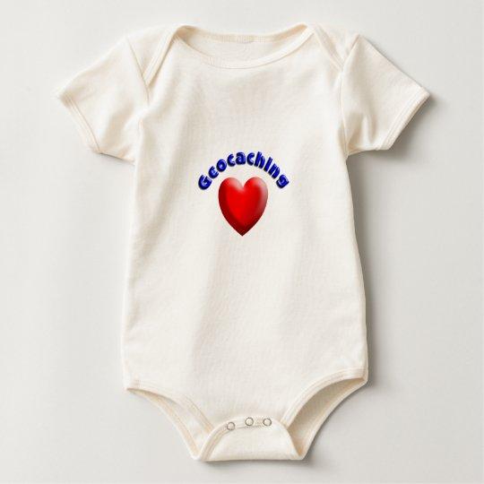 Heart geocaching baby bodysuit