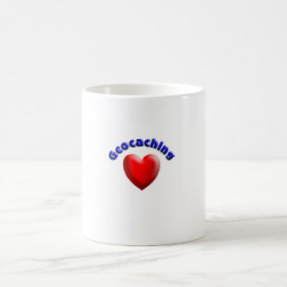 Heart geocaching mug