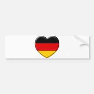 Heart German flag I like Germany Bumper Sticker