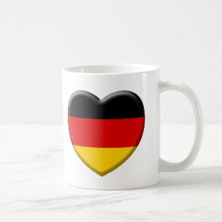 Heart German flag I like Germany Coffee Mug