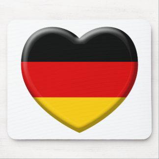 Heart German flag I like Germany Mouse Pad