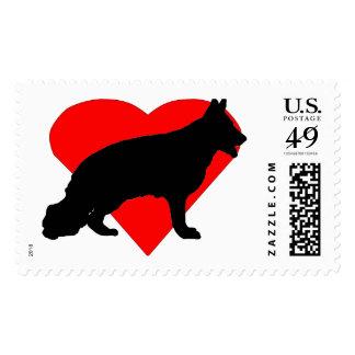 Heart German Shepherd Postage