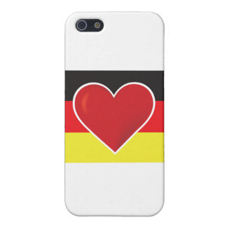 Heart Germany Flag iPhone 5 Cases