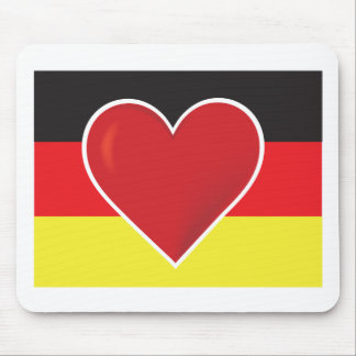 Heart Germany Flag Mouse Pad