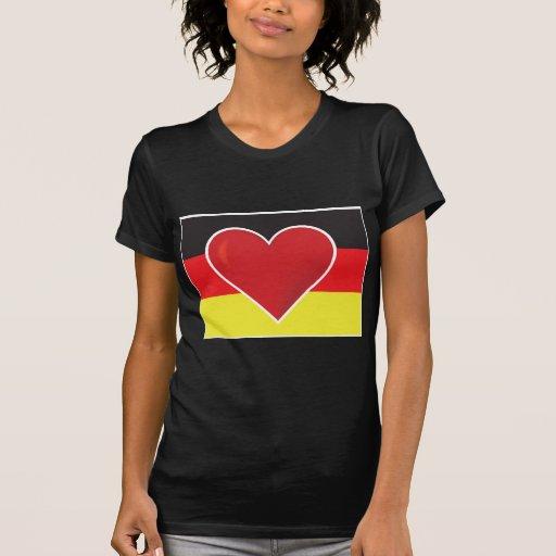 Heart Germany Flag Shirts