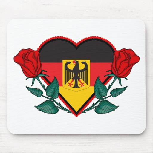 Heart Germany Mouse Pad