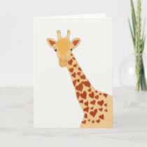 Heart Giraffe (Glossy) Greeting Card