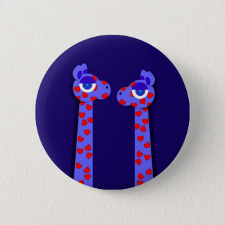 HEART GIRAFFES Button