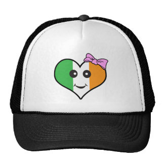 heart girl irish smiley trucker hat