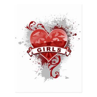 Heart Girls Post Cards