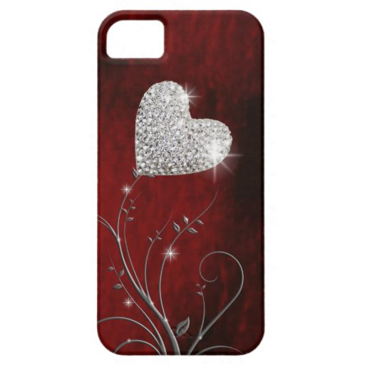 heart girly lovely red iPhone 5 cover