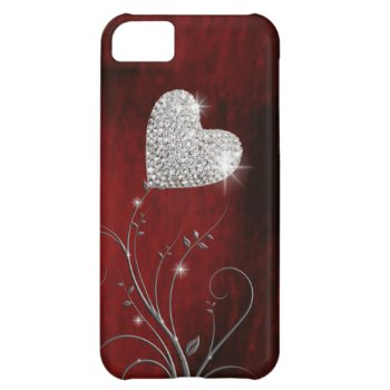 heart girly lovely red iPhone 5C cover