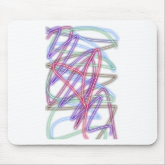 Heart Glow Coloful Scribble Efffects Mouse Pad