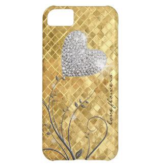Heart golden love iPhone 5C cover