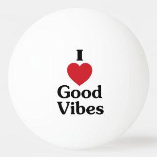 Heart good vibes ping pong ball