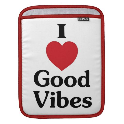 Heart good vibes simple love laptop sleeve iPad sleeves