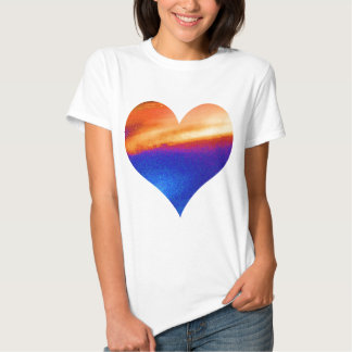 HEART GRADUATE LEAF FEATHER T SHIRT