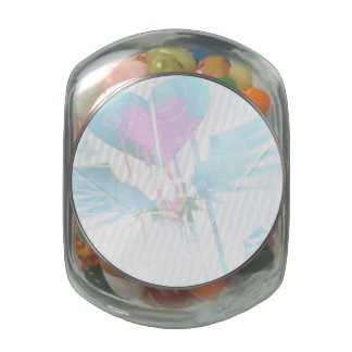Heart Graffiti Glass Candy Jars