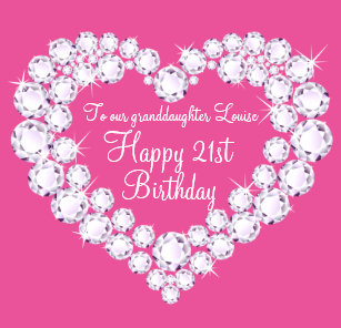 Heart Granddaughter 21st Birthday Gift Box