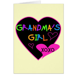 Heart Grandma's Girl T-shirts and Gifts Greeting Cards