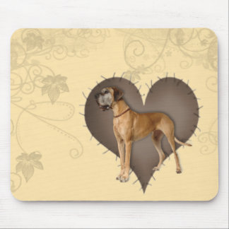 Heart Great Dane Mouse Pad